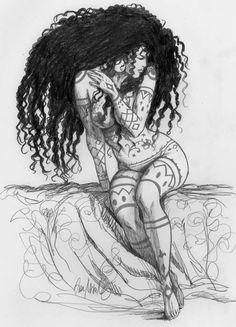 Ex-libris offert par Ana Miralles avec le Bas-relief Djinn Art Black Love, Black Girl Art, Fantasy Kunst, Fantasy Art, Art Sketches, Art Drawings, Drawing Drawing, Art Afro, Tachisme