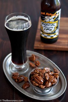 Edible gifts for the beer lover on your list...Beer Candied Pecans