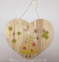 Wooden heart wall hanging wooden heart door by BsCozyCottageCrafts