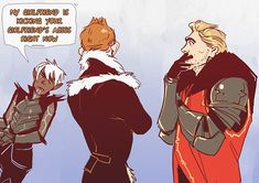 I can definitely see Hawke throwing down with the Inquisitor but maybe not the Warden....