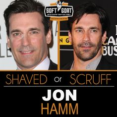 #JonHamm #malegrooming #shaving #sexyscruff #stubble #mensfashion #celebrities #Hollywoodhunks