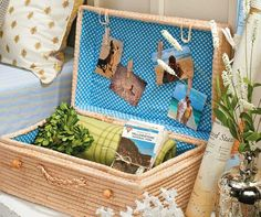 Create a Suitcase Photo Display  (in guest room change to old photos that include the guest)