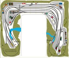 All Track Plans were drawn by me