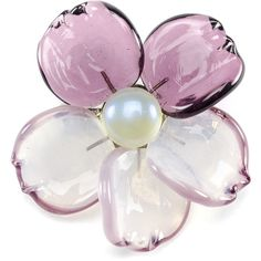 Pre-owned Chanel Camellia Flower Glass Brooch (17,355 THB) ❤ liked on Polyvore featuring jewelry, brooches, pin jewelry, flower broach, flower jewelry, preowned jewelry and artificial jewellery