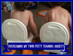 """Is there an age that demands potty training for twins? """"They will be potty trained one day. No one goes to kindergarten in a diaper"""" See what this mom says about it at twiniversity.com!"""