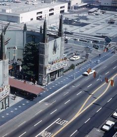 Look at all that wide open space on Hollywood Blvd back in 1961