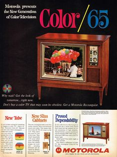Remarkable. Motorola color TV, 1965