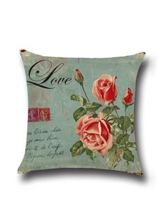 Shop Blue Rose Print Linen Cushion Cover online. SheIn offers Blue Rose Print Linen Cushion Cover & more to fit your fashionable needs.