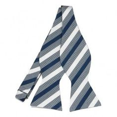 448207b69d93 Marquis Stripe Boys Bow Ties, Tie Bow, Tie Styles, Striped Linen, Marquis