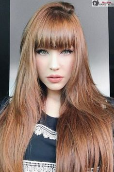 Recommendations with regard to amazing looking women's hair. An individual's hair is usually what can certainly define you as a person. To numerous individuals it is certainly vital to have a good hair do. Hair and beauty. Fall Hair Colors, Cool Hair Color, Beautiful Long Hair, Gorgeous Hair, Hairstyles With Bangs, Cool Hairstyles, Hairstyle Ideas, Light Auburn Hair, How To Make Hair