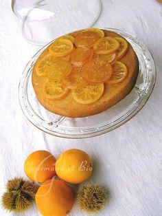 Gâteau aux oranges confites Orange Confit, Bio, My Recipes, Greedy People, Food, Recipes, Kitchens