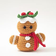Amigurumi Gingerbread man Bust pattern by Dennis van den Brink Tutorial ✿⊱╮Teresa Restegui http://www.pinterest.com/teretegui/✿⊱╮
