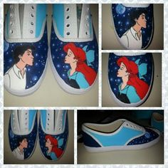 Little Mermaid Shoes on Etsy, $55.00