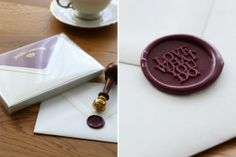 wax seal - www.monogramsandsignets.com Seal Craft, Wax Seals, Monograms, Stamps, Crafts, Seals, Manualidades, Stamping, Postage Stamps