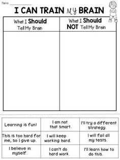 FREE Growth Mindset Activity: This worksheet will ask the students to…