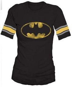 Bat Symbol Hockey Style T-Shirt -- for teens and adults -- WANT IT!!!