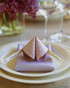 "Fortune ""cookie"" place cards"