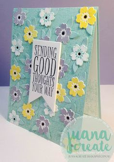 Juan Ambida Independent Stampin' Up!® Demonstrator Australia: Sending Good Thoughts - PPA297 Color Challenge
