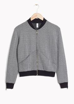 & Other Stories image 1 of Bomber Cardigan in Black