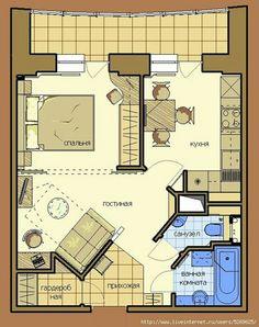 33 Ideas bedroom apartment floor plan small houses for 2019 Shed House Plans, Small House Plans, House Floor Plans, Tiny Studio Apartments, Loft Plan, Modern Floor Plans, Bedroom Loft, Bedroom Apartment, Apartment Floor Plans
