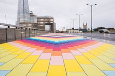 In pictures: the rainbow road on London Bridge