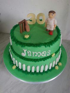 Cricket Cake Cricket Cake, 30 Birthday Cake, Desserts, Kids, Food, Tailgate Desserts, Young Children, Deserts, Boys