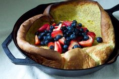 Vanilla Bean Dutch Baby with Macerated Berries Recipe // Dula Notes