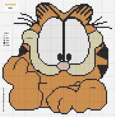 Garfield perler perler bead pattern