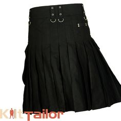 Our Black Cargo Utility work kilts are specifically designed to achieve best and comfort fitting during the rough and tough jobs.It is a tough Utility kilt for