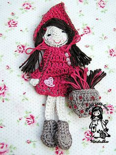 Ravelry: Little Red Riding Hood Bookmark pattern by Vendula Maderska