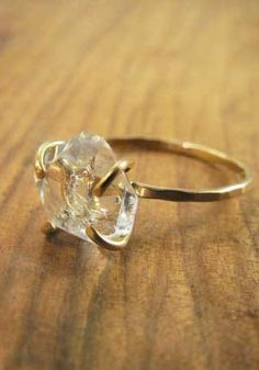 conflict free diamonds and green recycled gold, such a neat idea.