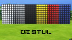 De Stijl Wall Panels Blocks (Small) #12 for #TheSims4  http://www.simsnetwork.com/downloads/the-sims-4/build/de-stijl-wall-panels-blocks-small-12