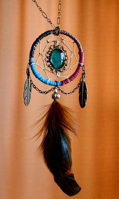 dream catcher necklace:)