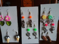 Earrings for best friend's hen party - Club Tropicana theme.