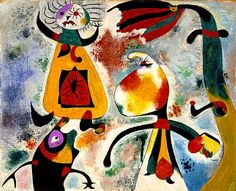 Group of Figures (Groupe de Personnages) Joan Miró (Spain, Spain, 1938 Oil on canvas Framed: 21 x 24 in. x cm) Gift of Robert H. Halff through the Modern and Contemporary Art Council Modern Art LACMA Collections Miro Artist, Joan Miro Paintings, Modern Art, Contemporary Art, Lascaux, Graffiti, Z Arts, Spanish Artists, Famous Art