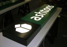 Fret cut aluminium fascia panel with White LED Face illumination