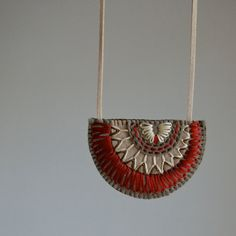 embroidered felt necklaces