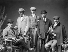 A quintet of thoroughly dapper looking Edwardian Irish gents from 1903. Ireland Irish men Edwardian portrait vintage 1900s
