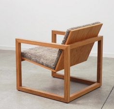 Wooden chair. I would want to make this for another seat in my basement