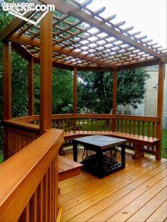 ↗️ 95 Aweosme Wood Pergola Models Patio Cover for Your Backyard 10748 Wooden Gazebo, Wood Pergola, Deck With Pergola, Pergola Shade, Pergola Plans, Diy Pergola, Pergola Kits, Pergola Ideas, White Pergola