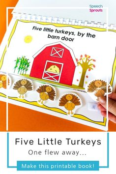 Five Little Turkeys Interactive Book for Thanksgiving Speech Therapy