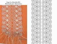 Resultado de imagen de ligas de bolillos Bobbin Lace Patterns, Embroidery Patterns, Crochet Patterns, Bobbin Lacemaking, Lace Heart, Lace Jewelry, Lace Garter, Needle Lace, Lace Making