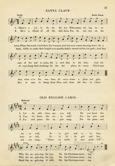 vintage sheet music, santa claus song, old fashioned christmas music, free music graphic, vintage printable song Christmas Songs Lyrics, Christmas Sheet Music, Old Christmas, Old Fashioned Christmas, A Christmas Story, Christmas Carol, Vintage Christmas, Old Sheet Music, Old Music