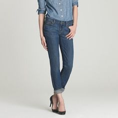 J.Crew - CLEARING OUT J.Crew Matchstick Jean                                             Stretch_dark wash                                                       98% cotton 5% spandex                                                      Worn a few times                                                        Size 25 short J. Crew Jeans Straight Leg