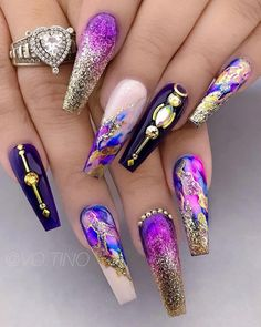 "Figure out even more relevant information on ""acrylic nail art designs ring finger"". Browse through our website. Stiletto Nail Art, Acrylic Nail Art, Nail Art Diy, Acrylic Nail Designs, Nail Art Designs, Nails Design, Coffin Nails, Diy Art, Ongles Bling Bling"