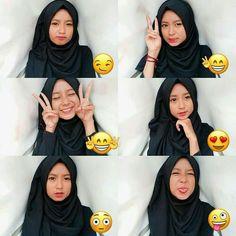 Modern Hijab Fashion, Ulzzang Fashion, Ulzzang Girl, Selfies, Selfie Poses, Girl Photo Poses, Girl Photos, Hijab Style Tutorial, Casual Hijab Outfit