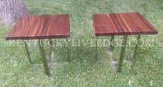 Walnut Side Tables End Tables  Reclaimed by KentuckyLiveEdge