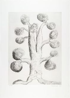 Louise Bourgeois. Tree with Woman, plate 3 of 9, from the portfolio, Topiary: The Art of Improving Nature. 1998