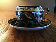 Vintage Japanese Tea Cup by AuntPollysCottage on Etsy, $20.00