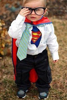 baby superman  sc 1 st  Pinterest & Mild mannered Clark Kent - great costume for an older kiddo ...